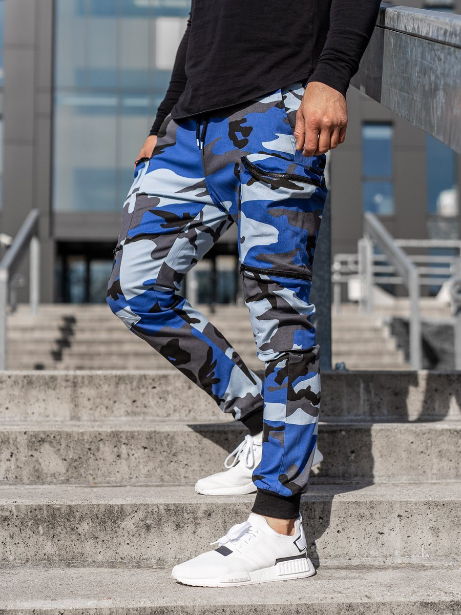 Pantaloni trening bărbați albastru Bolf 0475