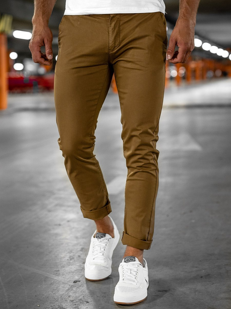 Pantaloni chinos camel Bolf 1146-1 imagine