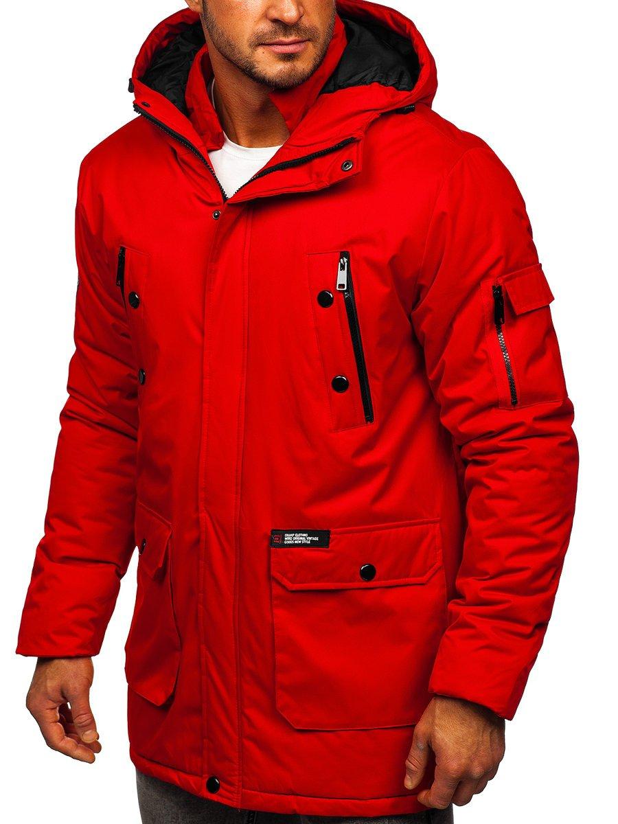 Geacă de iarnă roșie Bolf HY827