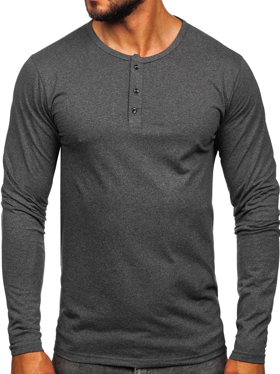 Bluză gri-inchis cu închidere la nasturi Bolf 1114 imagine