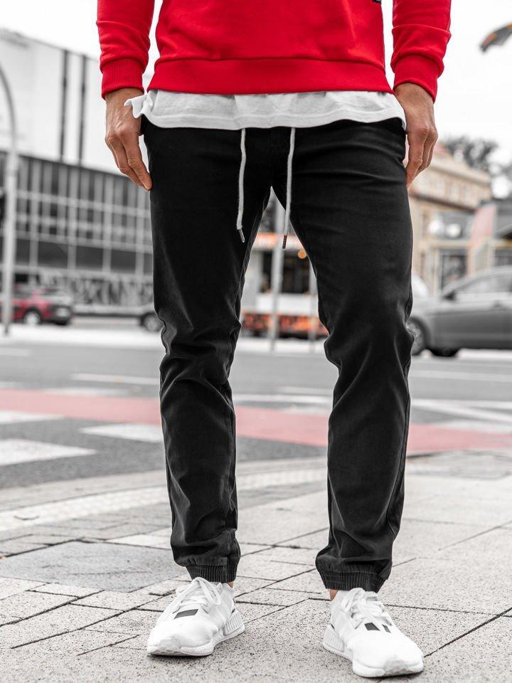 Pantaloni joggers bărbați negri Bolf 1121
