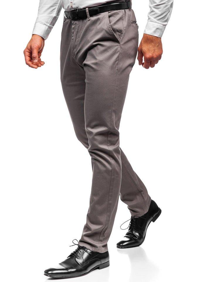 Pantaloni chino bărbați gri Bolf KA968 imagine
