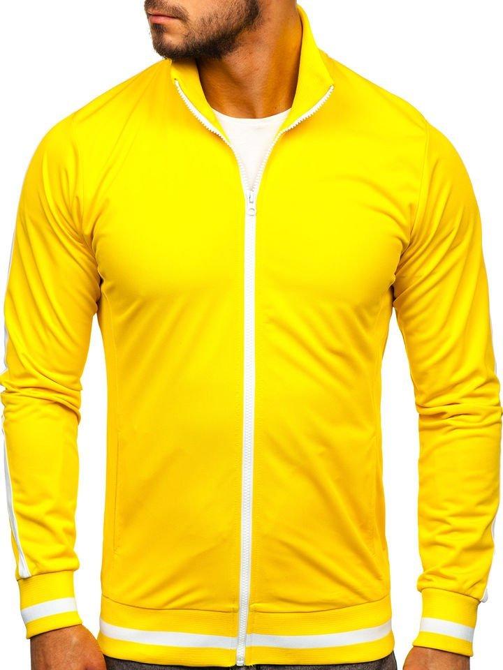 Bluză retro style cu fermoar bărbați galbenă Bolf 2126