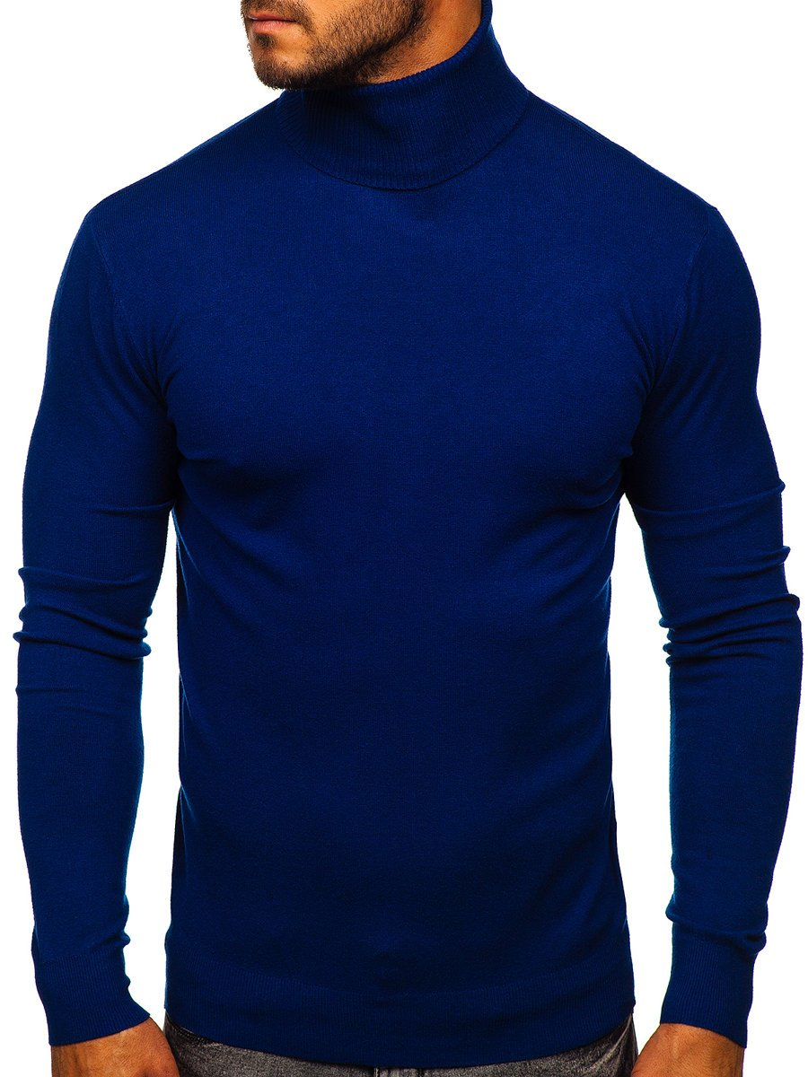 Pulover-maletă albastru Bolf YY02