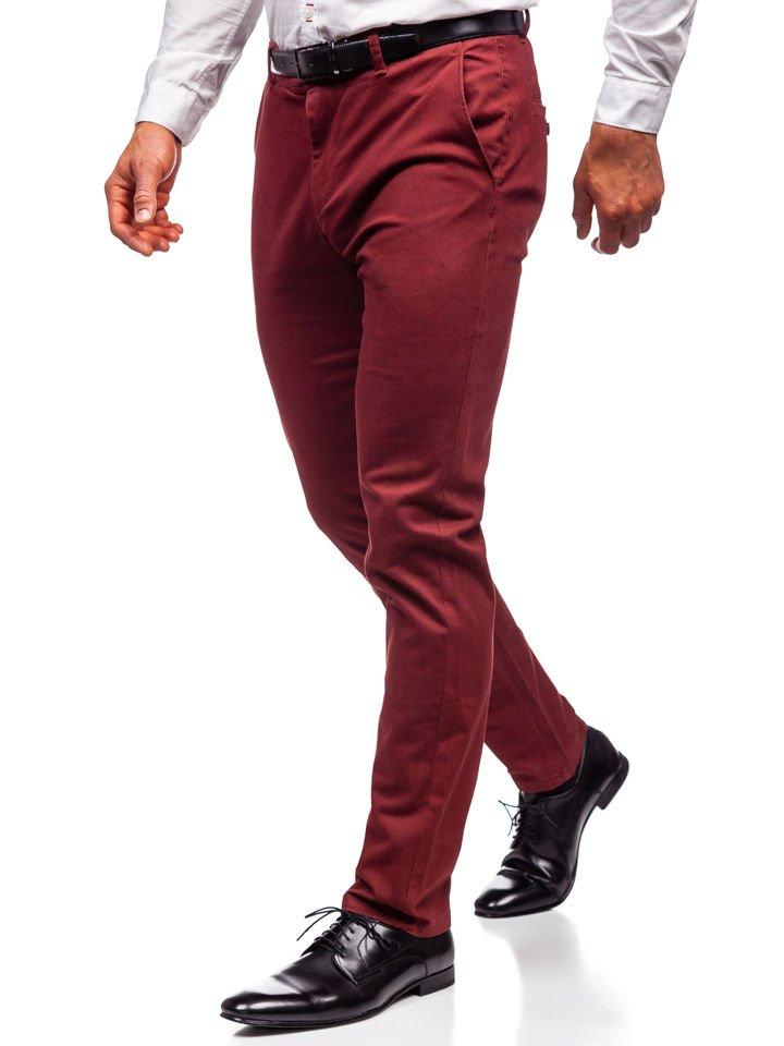 Pantaloni chino bărbați roșu Bolf 1120