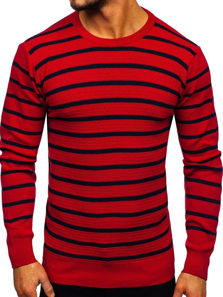 Pulover bărbați roșu Bolf H6052