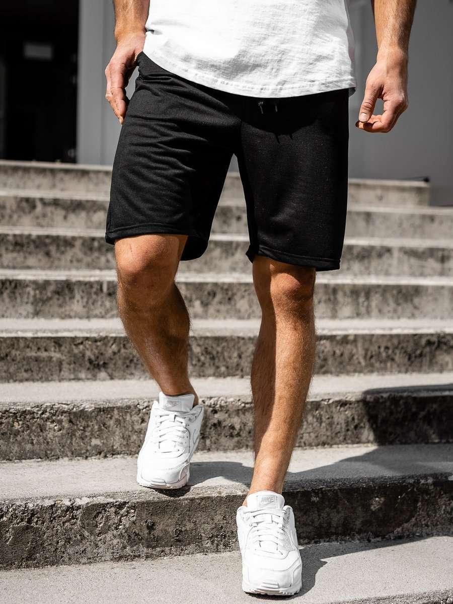 Pantaloni scurți de trening negri Bolf DK07 imagine