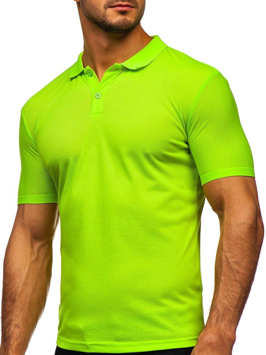 Tricou verde-neon polo Bolf GD02