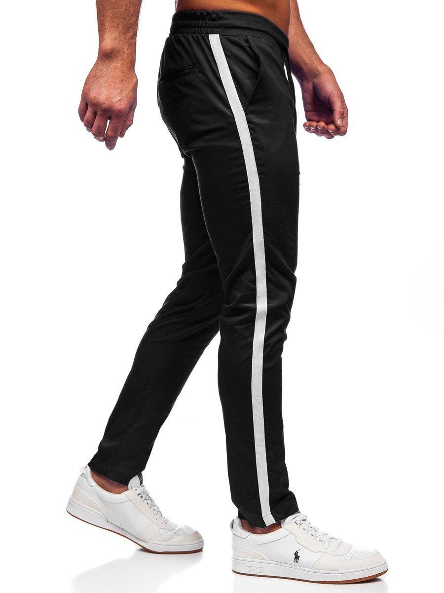 Pantaloni joggers negri Bolf 0013 imagine