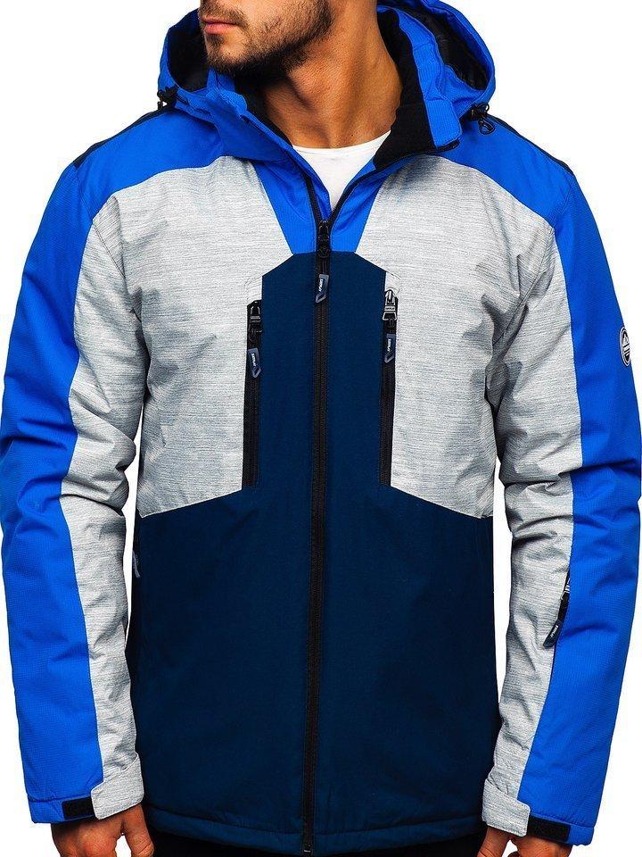 Geacă de ski bărbați albastră Bolf 1340