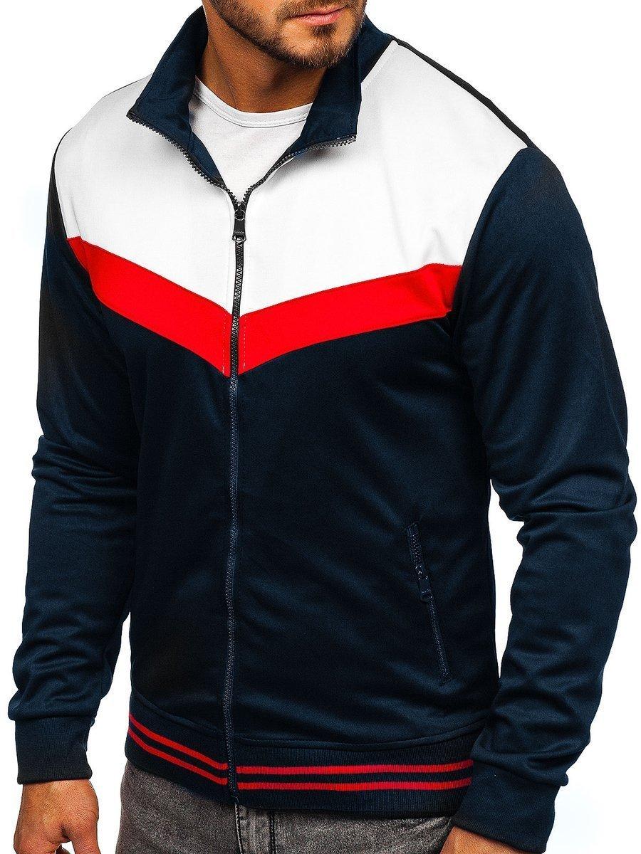 Bluza cu fermoar bărbați bleumarin Bolf 8995