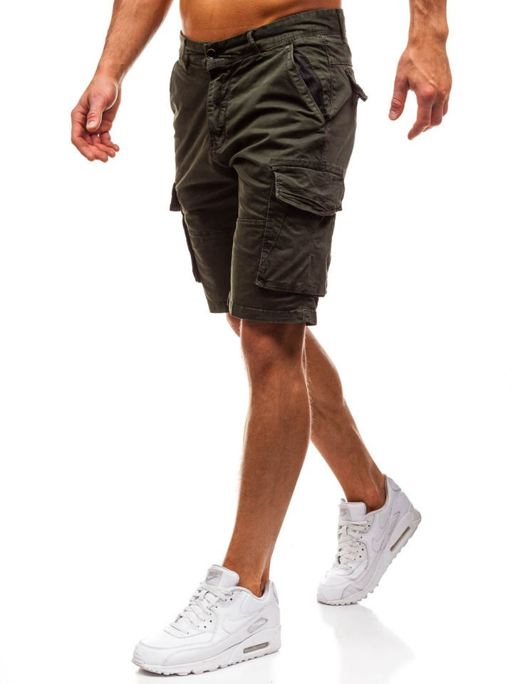 Pantaloni scurți cargo bărbați verzi Bolf 82221