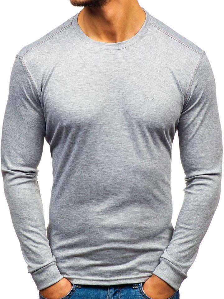 Bluză bărbați gri Bolf 145359 imagine