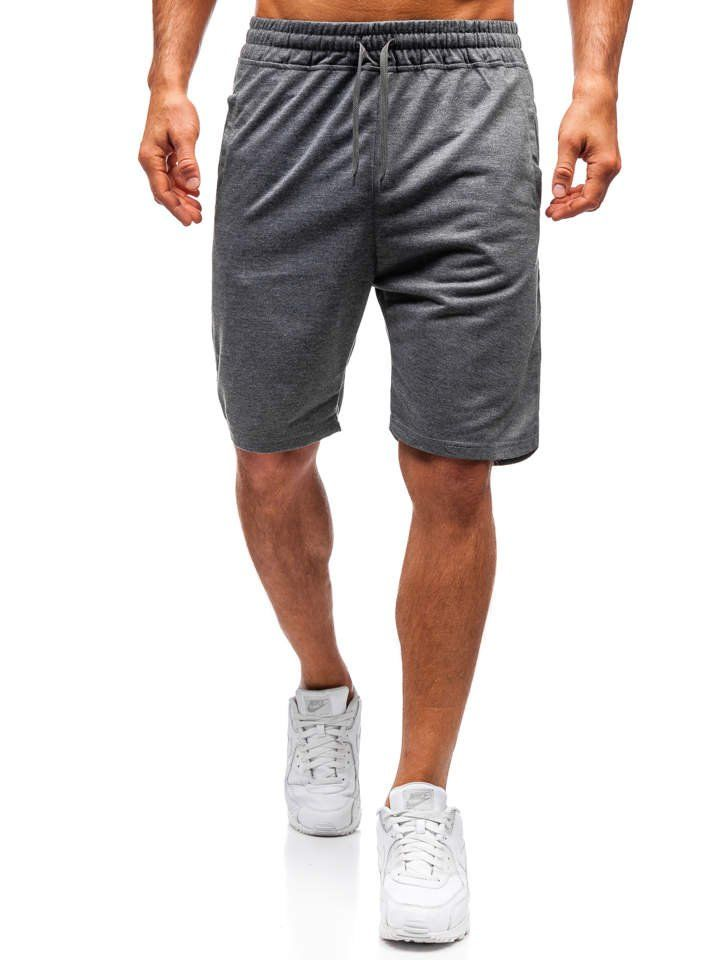 Pantaloni scurți sport bărbați grafit Bolf DK02 imagine