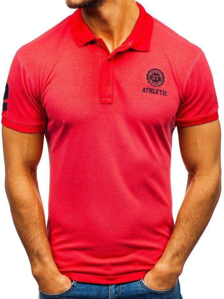 Tricou polo bărbați roșu Bolf 5773 imagine