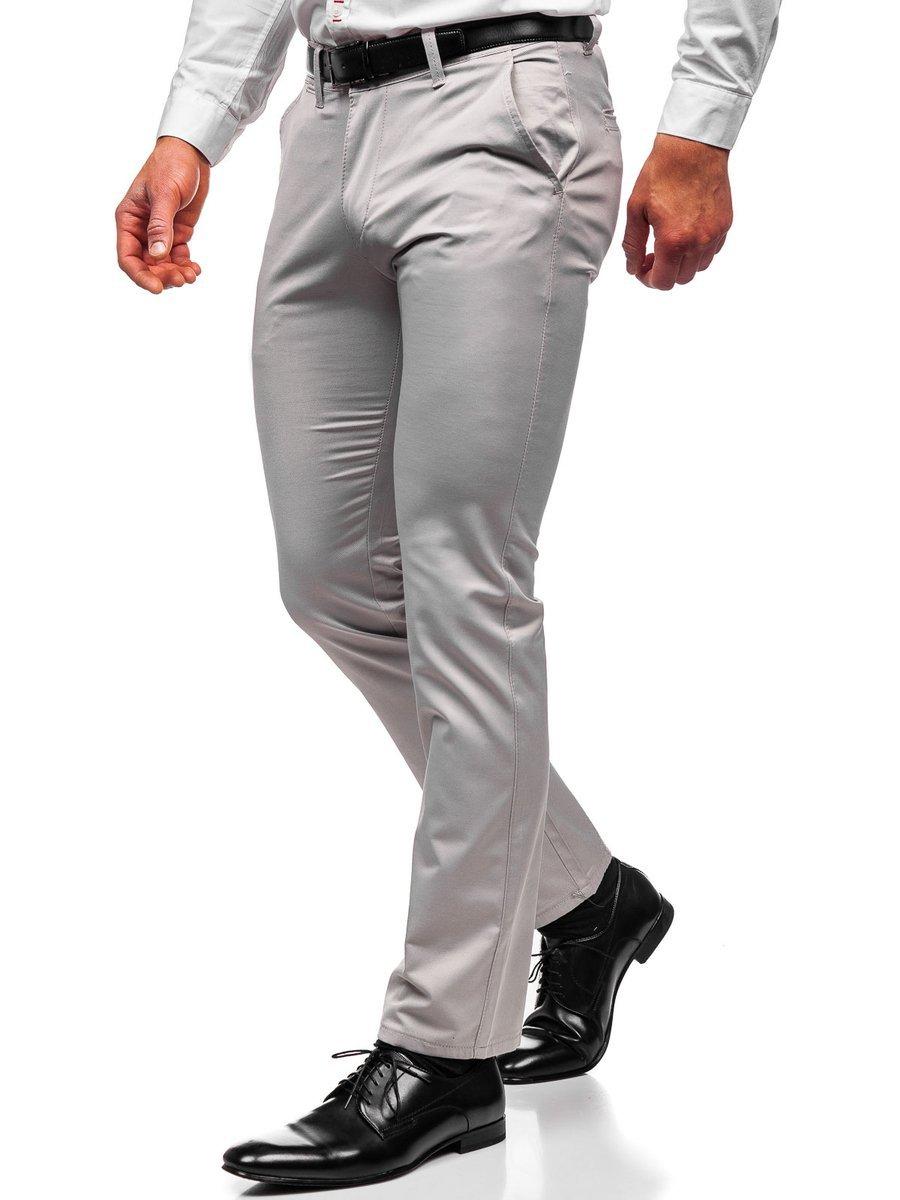 Pantaloni chinos gri bărbați Bolf KA1786P imagine