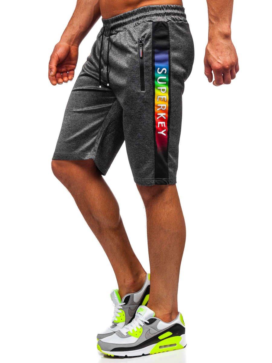 Pantaloni scurți grafit bărbați Bolf JX385 imagine