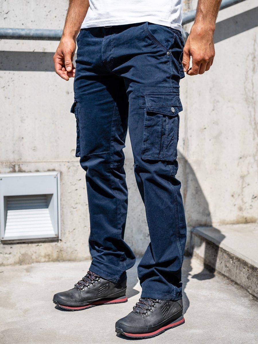 Pantaloni cargo bleumarin bărbați Bolf 1672 imagine
