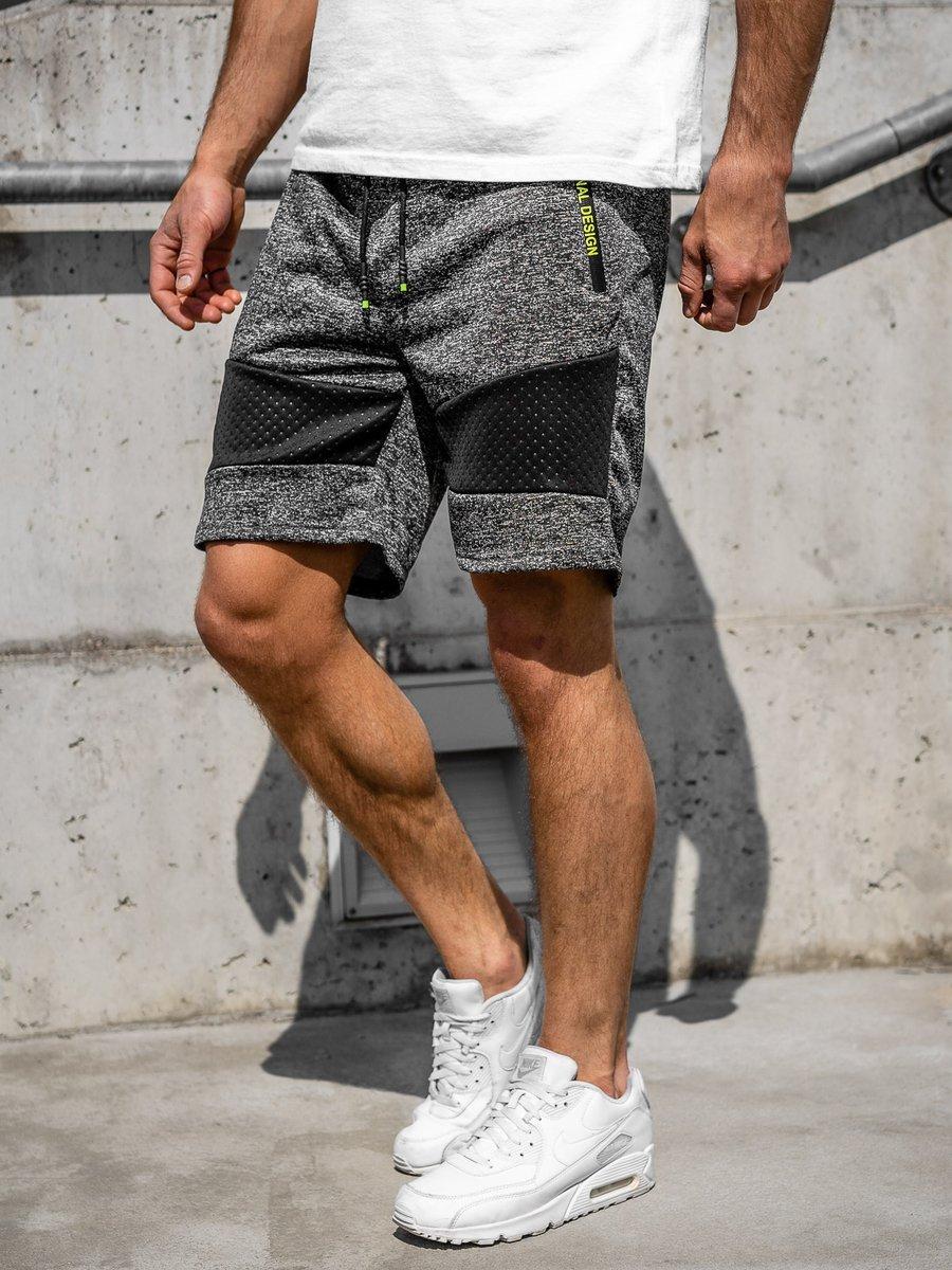 Pantaloni scurți de trening bărbați negri Bolf KS2511 imagine