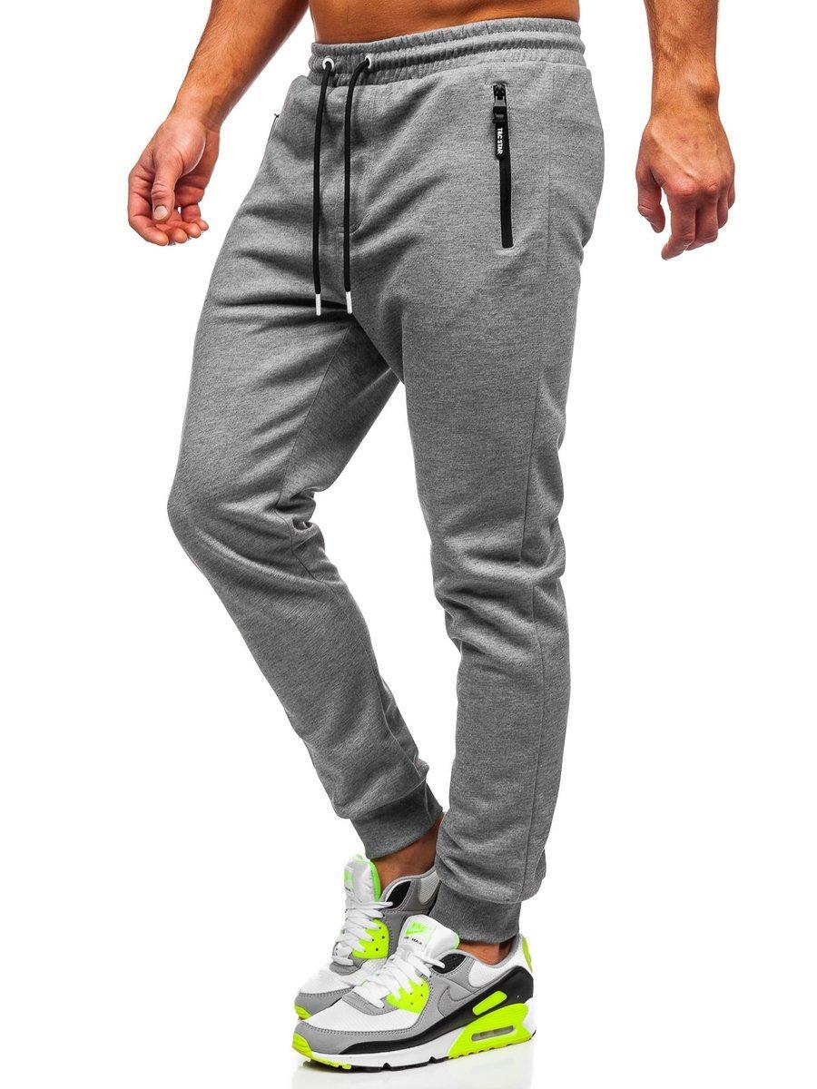 Pantaloni de trening gri bărbați Bolf Q1054