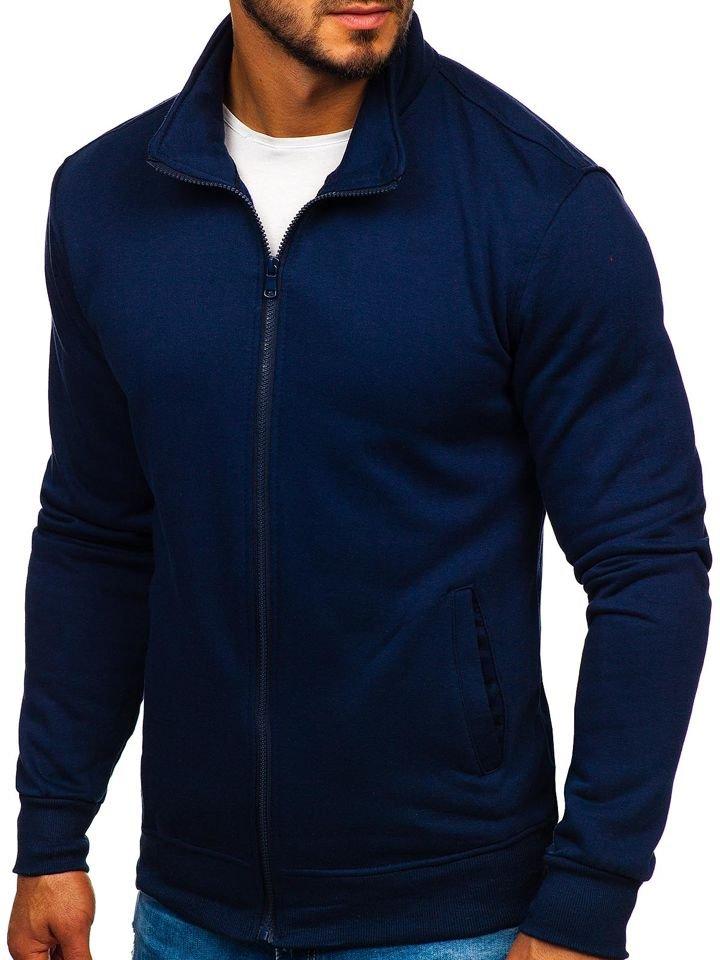 Bluză cu fermoar bleumarin Bolf B002 imagine
