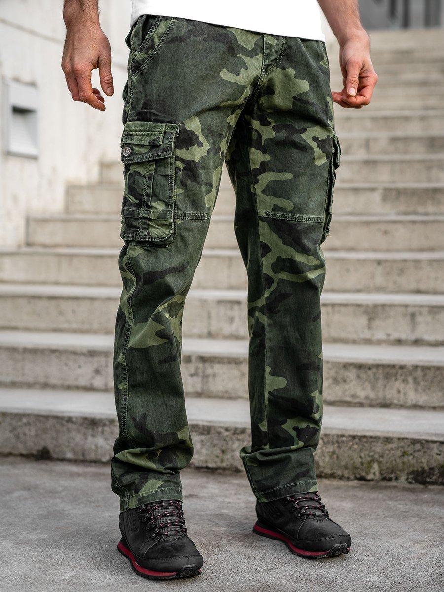 Pantaloni kaki cargo cu curea Bolf CT8503 imagine