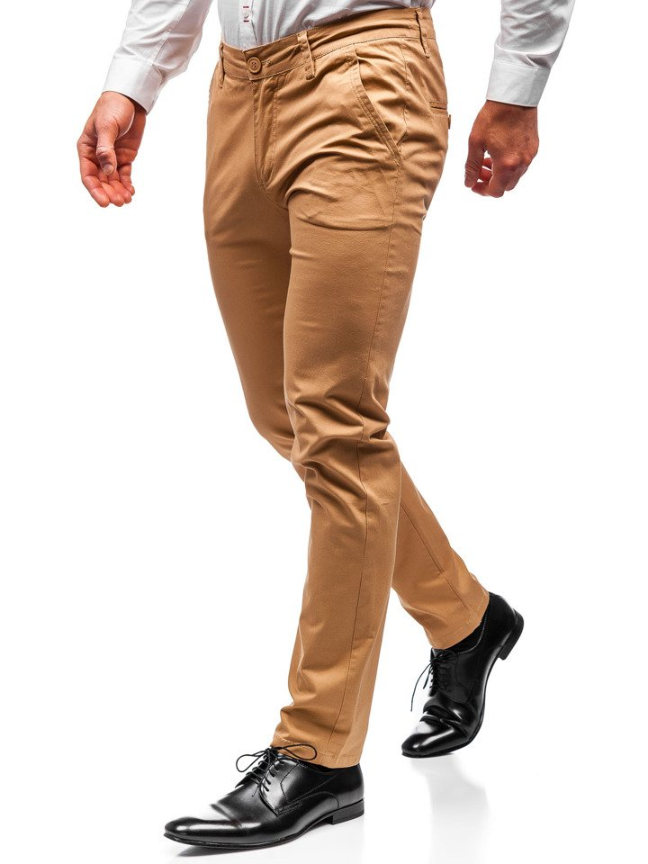 Pantaloni chino bărbați camel Bolf 2901 imagine