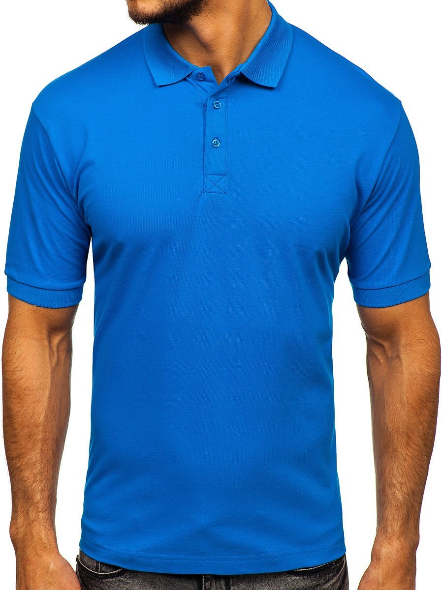 Tricou polo bărbați albastru Bolf 171221 imagine