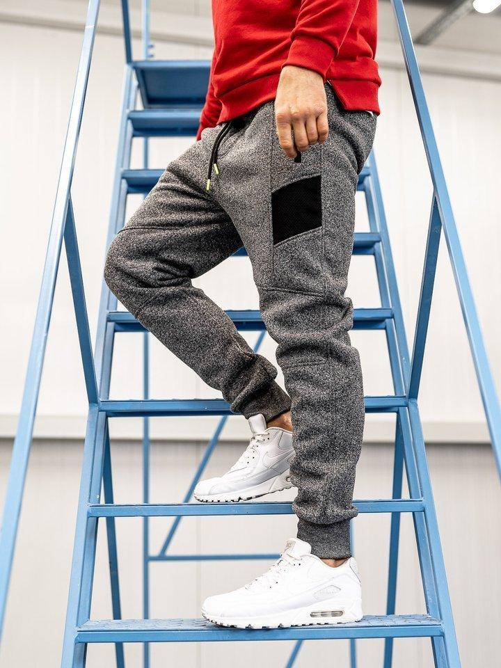 Pantaloni de trening bărbați grafit Bolf TC840
