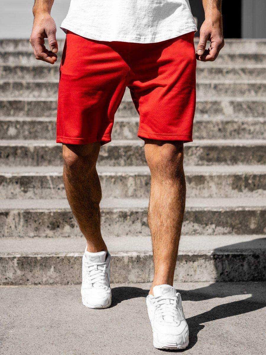 Pantaloni scurți bărbați roșu Bolf B1002 imagine