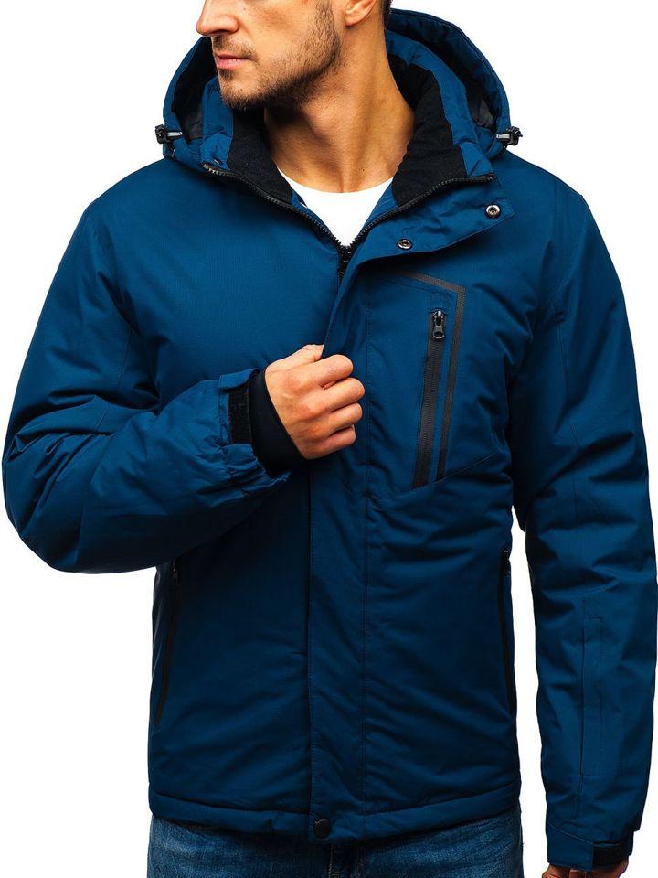 Geacă de iarnă ski pentru bărbat bleumarin Bolf HZ8107