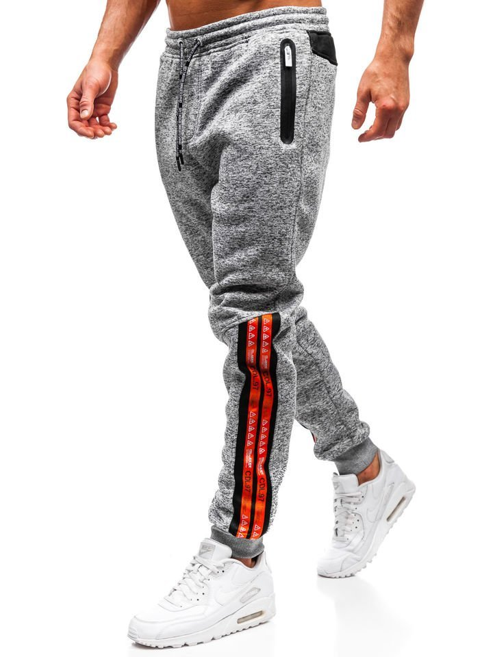 Pantaloni de trening bărbați gri Bolf Q3869