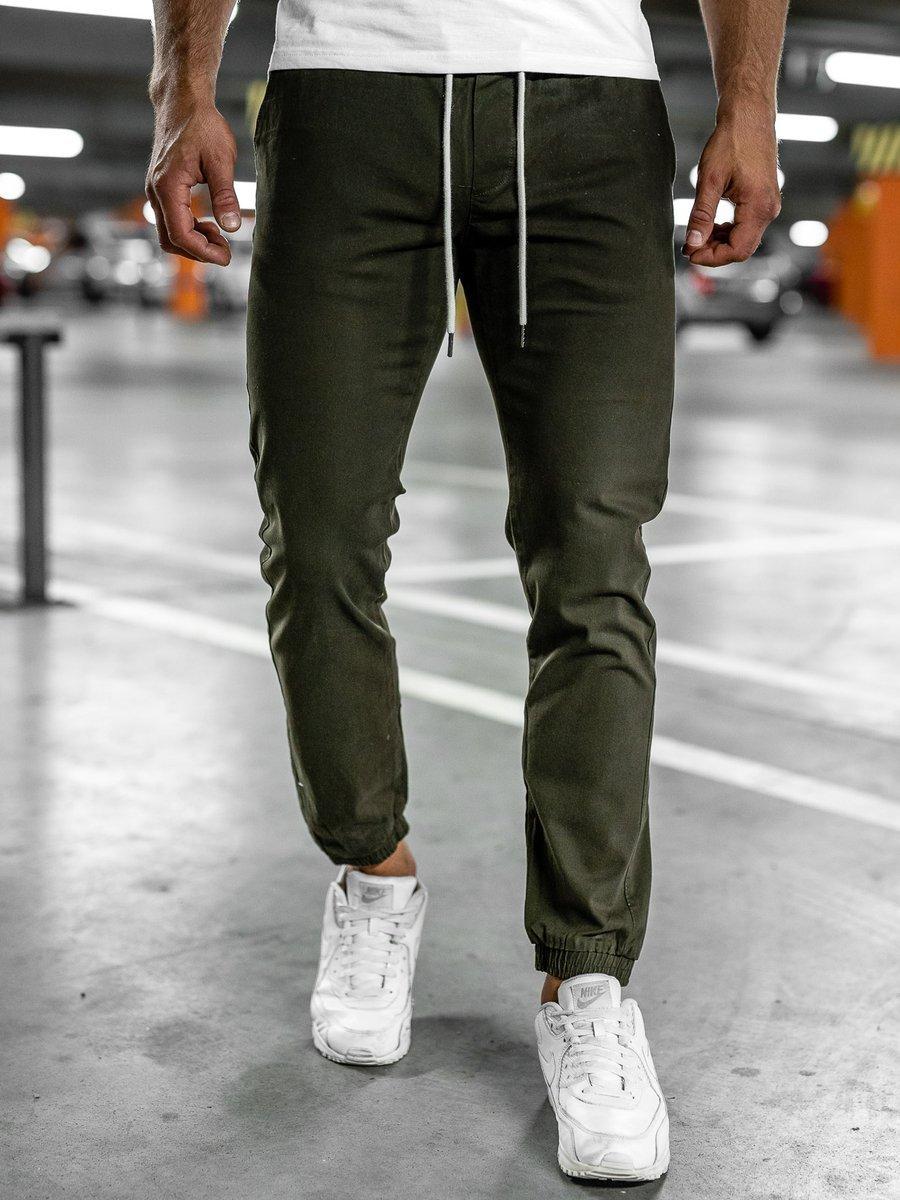 Pantaloni joggers kaki Bolf 1145
