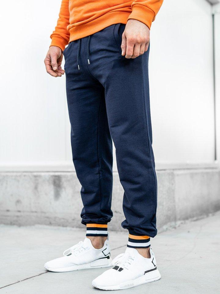 Pantaloni trening bărbați bleumarin Bolf 145368