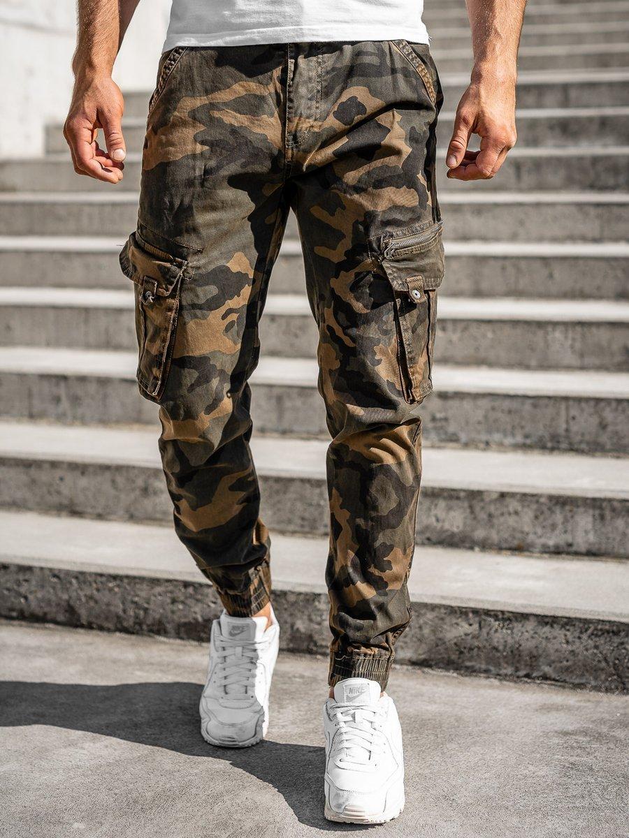 Pantaloni cargo military maro cu curea Bolf CT6013 imagine