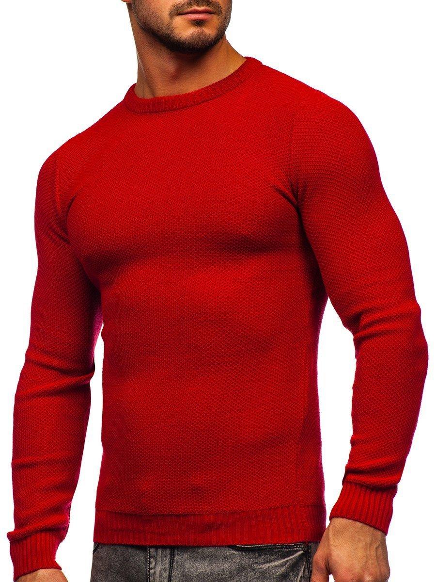 Pulover roșu bărbați Bolf 4629 imagine