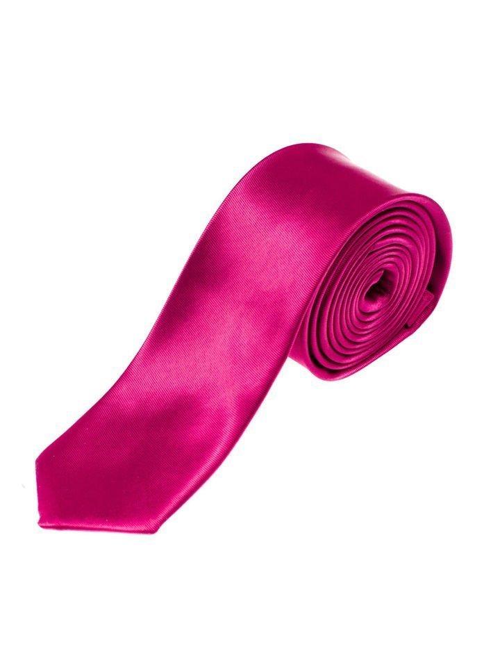 Cravată elegantă pentru bărbat violet-închis Bolf K001