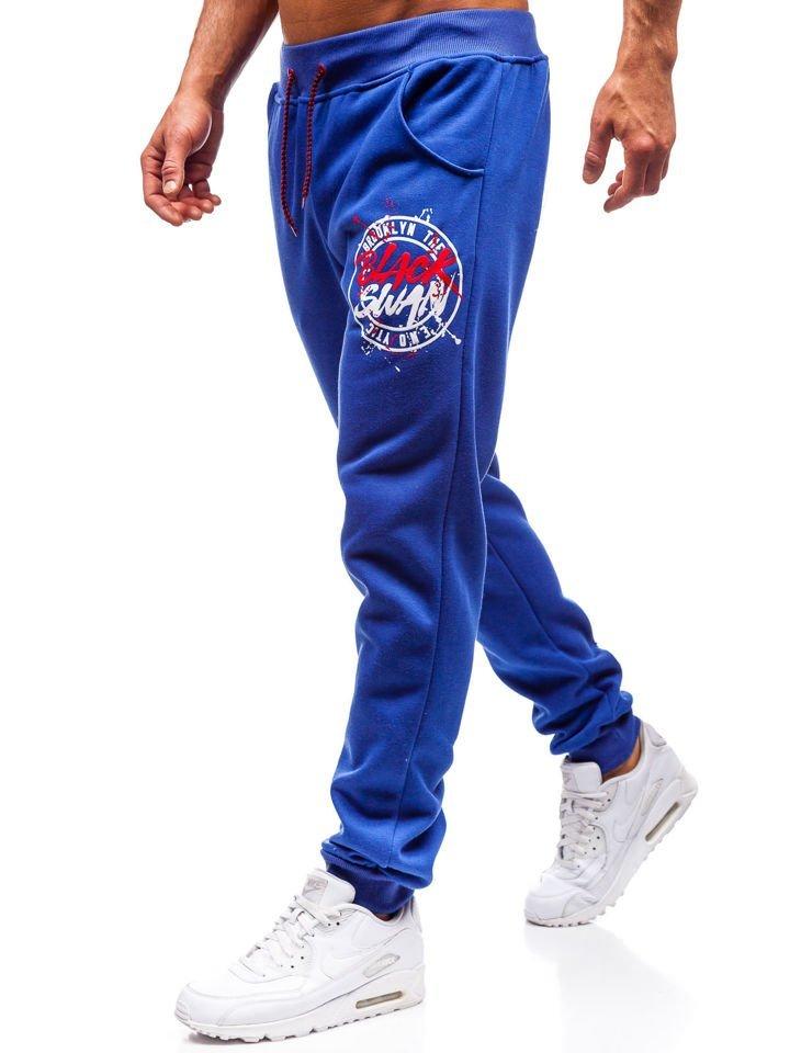 Pantaloni de trening bărbați albastru Bolf 55086