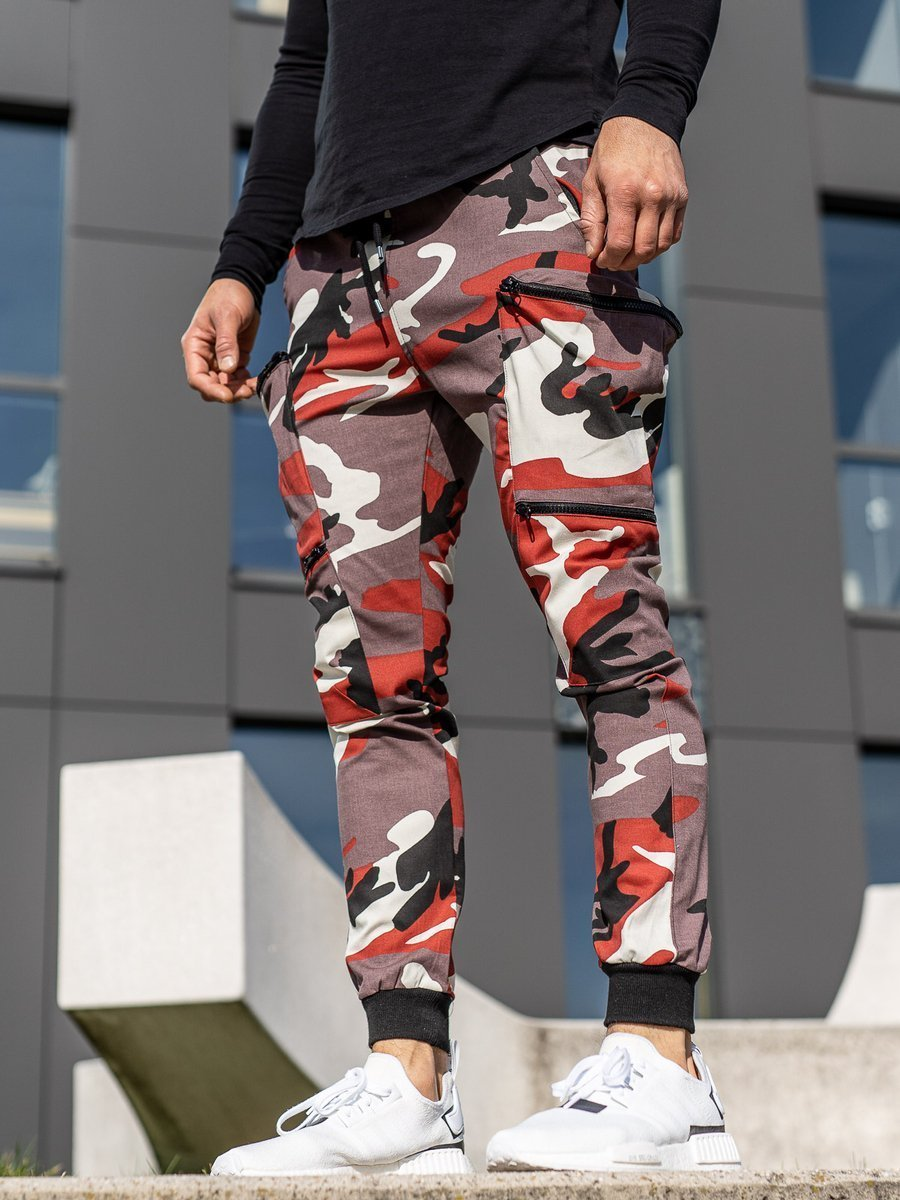 Pantaloni trening bărbați bordo-roșu Bolf 0475