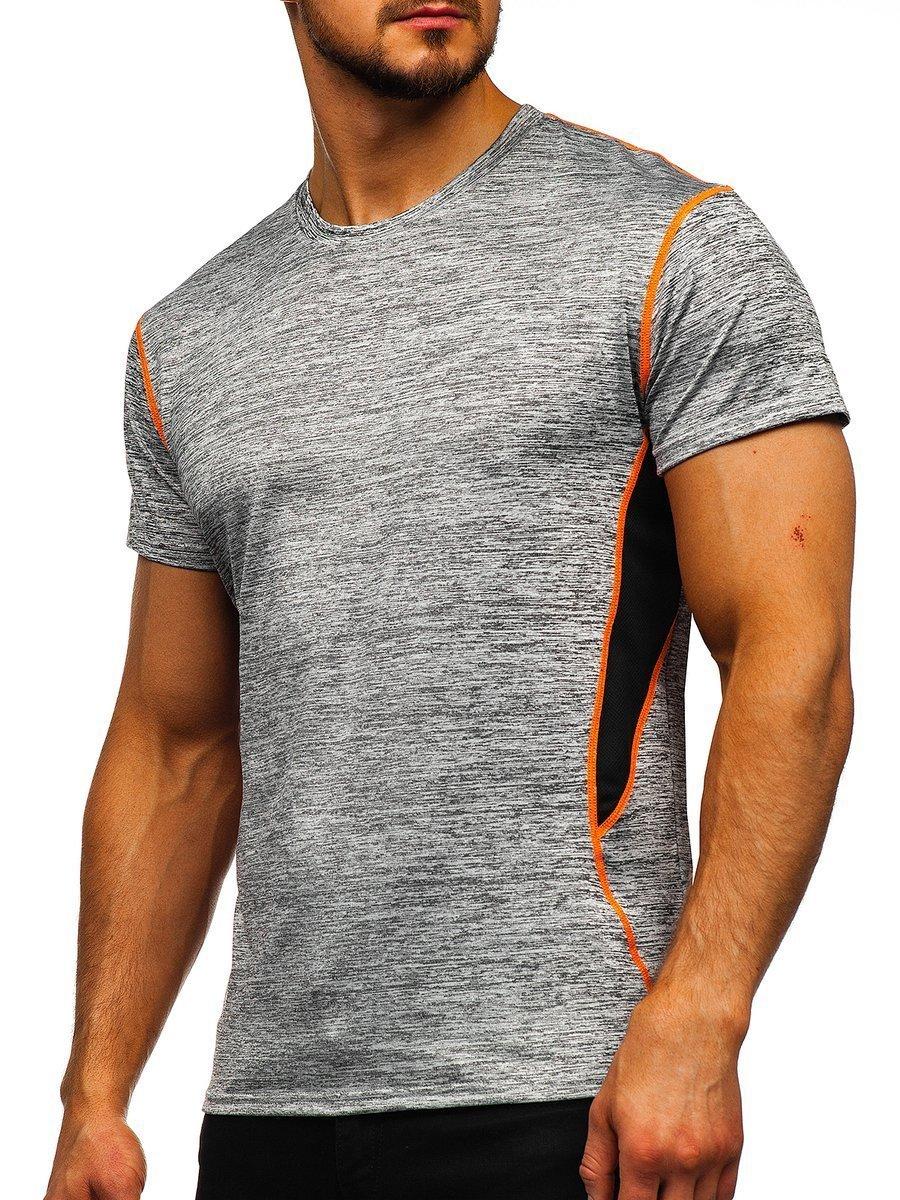 Tricou gri cu imprimeu bărbati Bolf KS2104 imagine