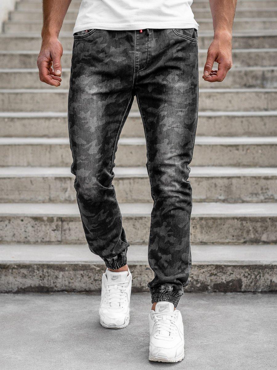 Pantaloni army joggers negri bărbați Bolf RB9486DT
