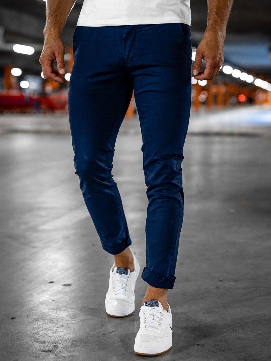 Pantaloni chinos bleumarin Bolf 1146-1 imagine