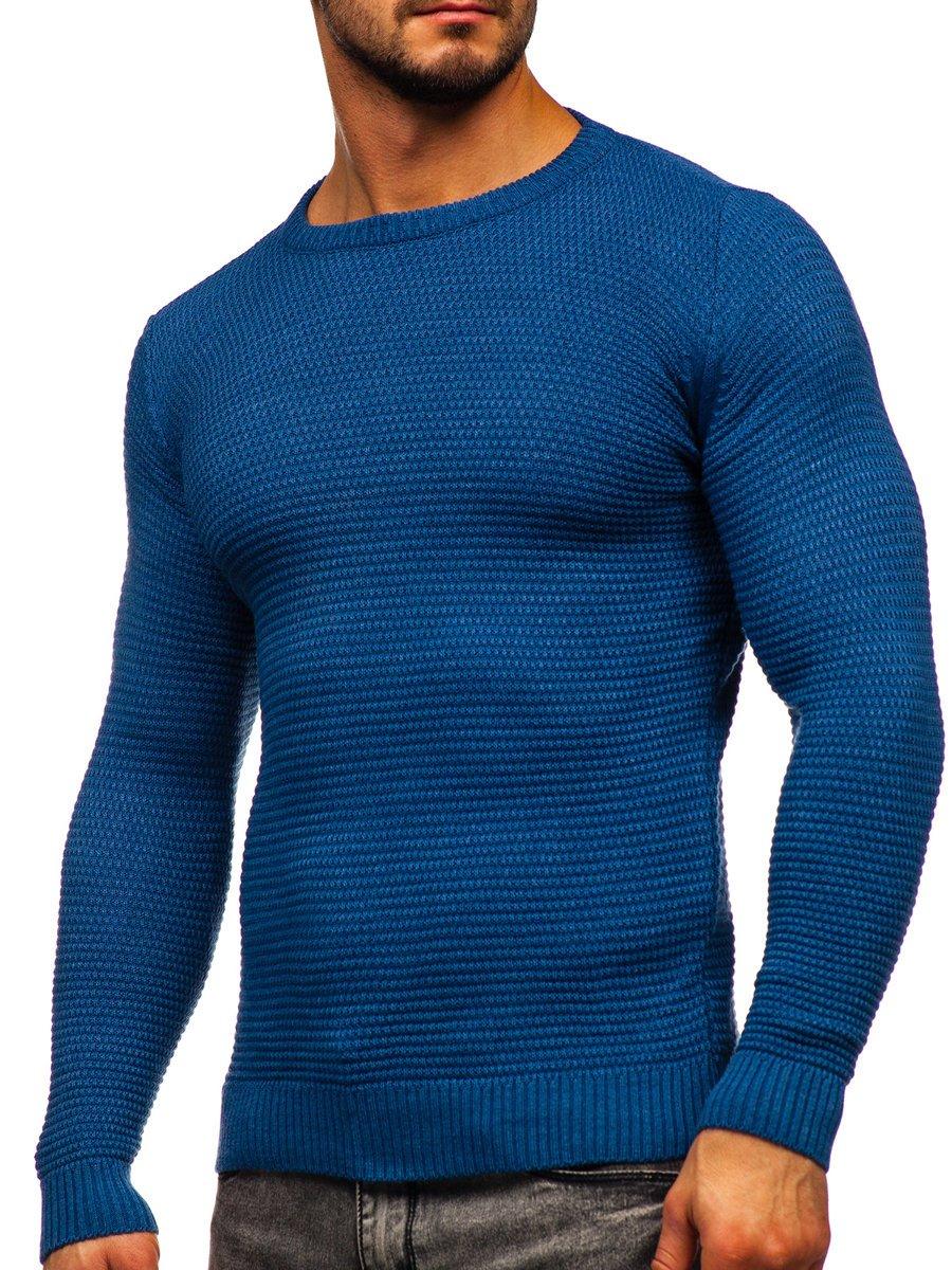 Pulover albastru bărbați Bolf 4604 imagine