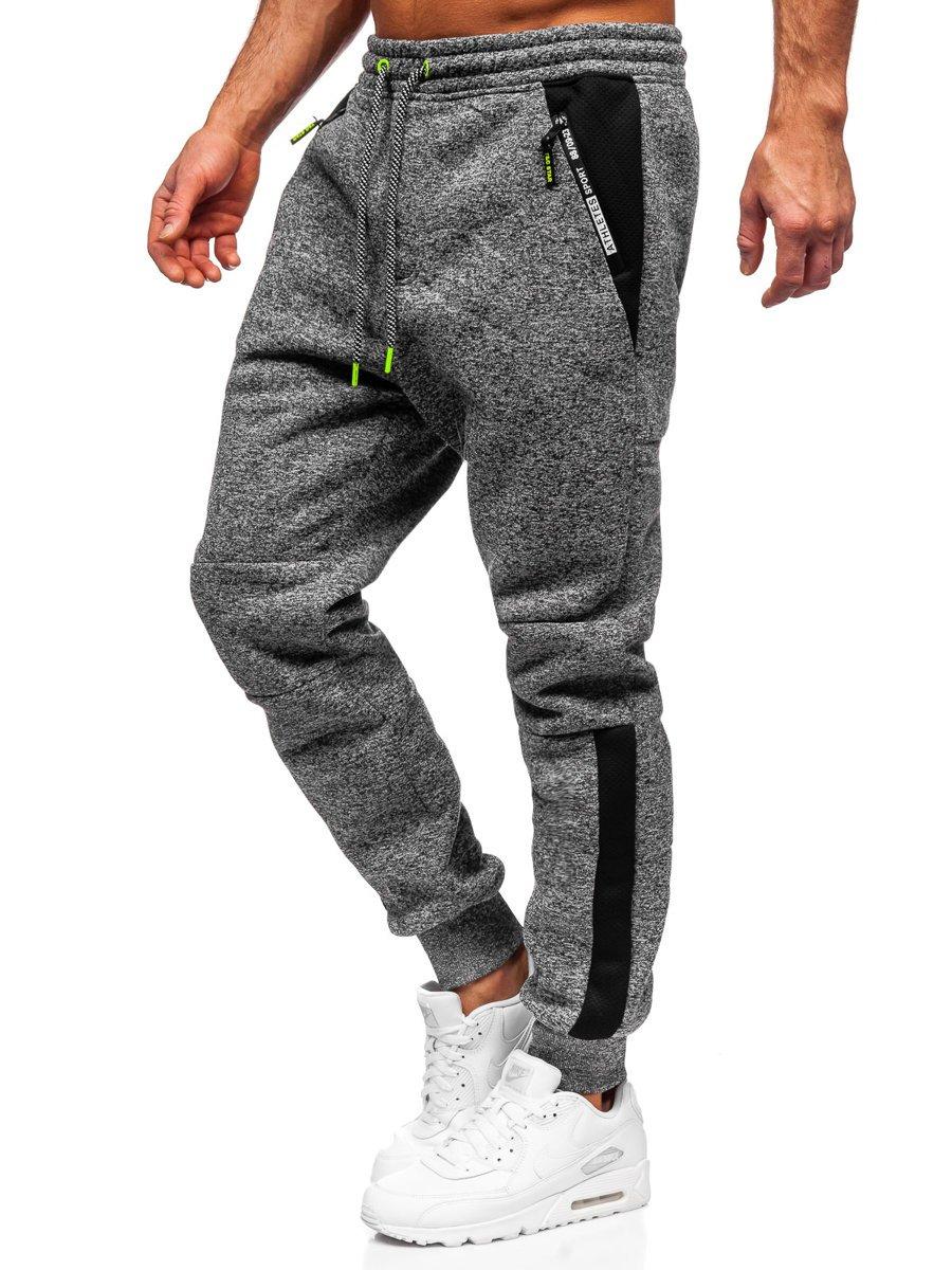 Pantaloni de trening grafit Bolf Q1092