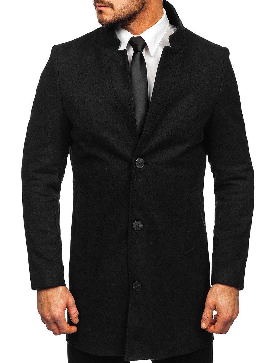 Palton de iarnă negru Bolf 0010 imagine