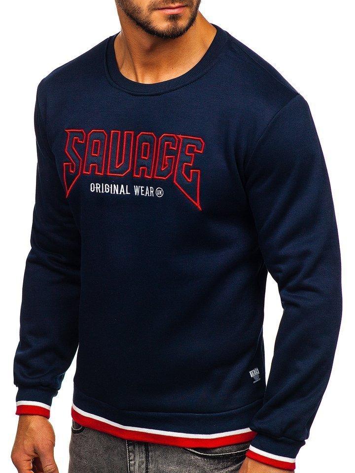 Bluza cu imprimeu bărbati bleumarin Bolf HY529 imagine