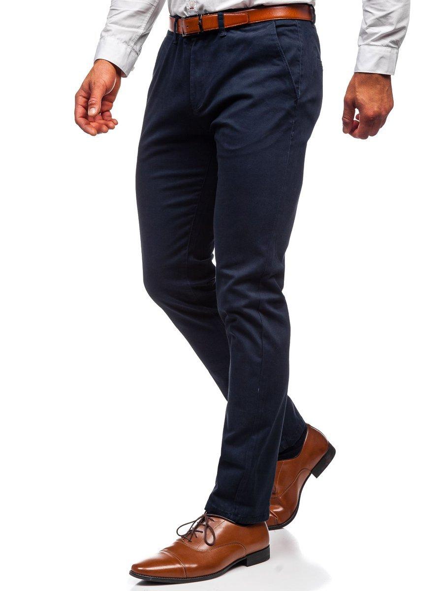 Pantaloni chinos bleumarin bărbati Bolf 1143 imagine