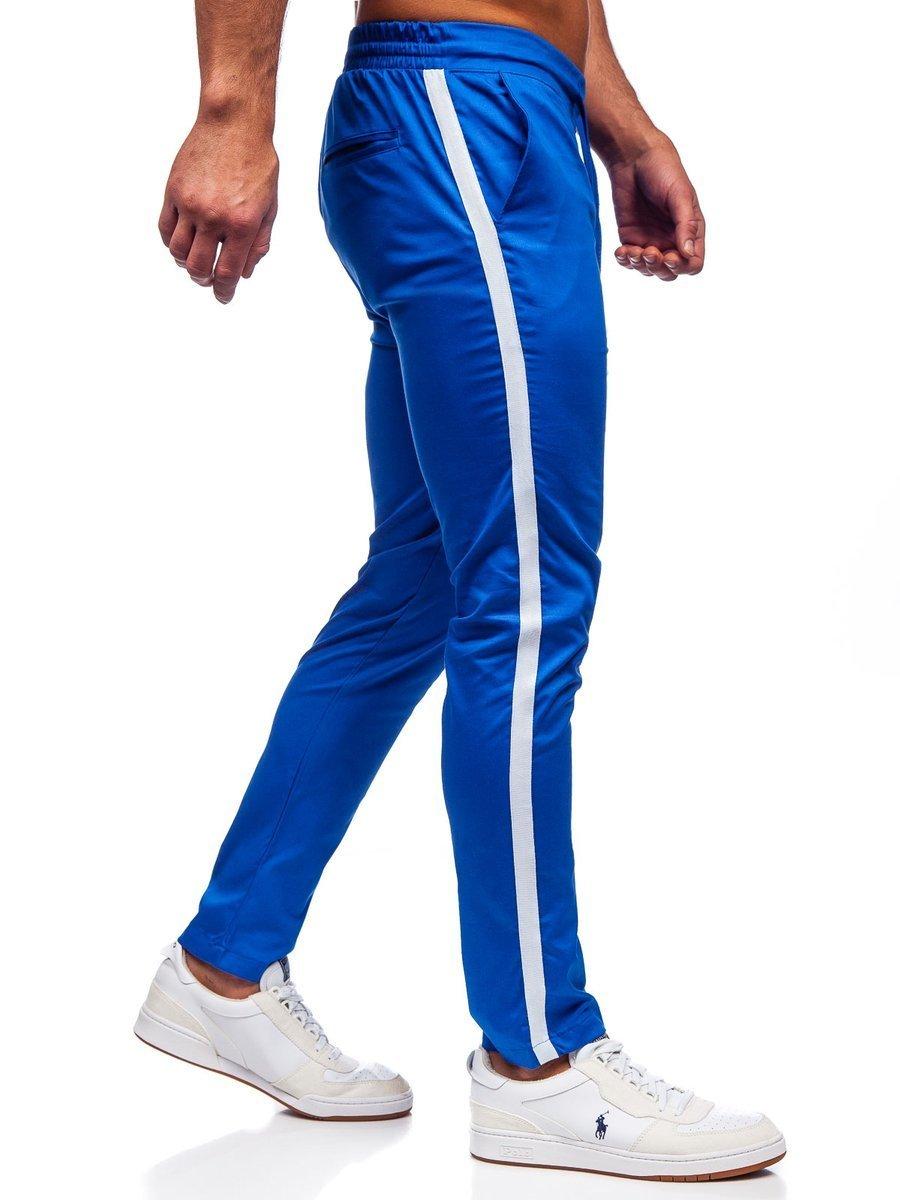Pantaloni joggers albastru-aprins Bolf 0013 imagine
