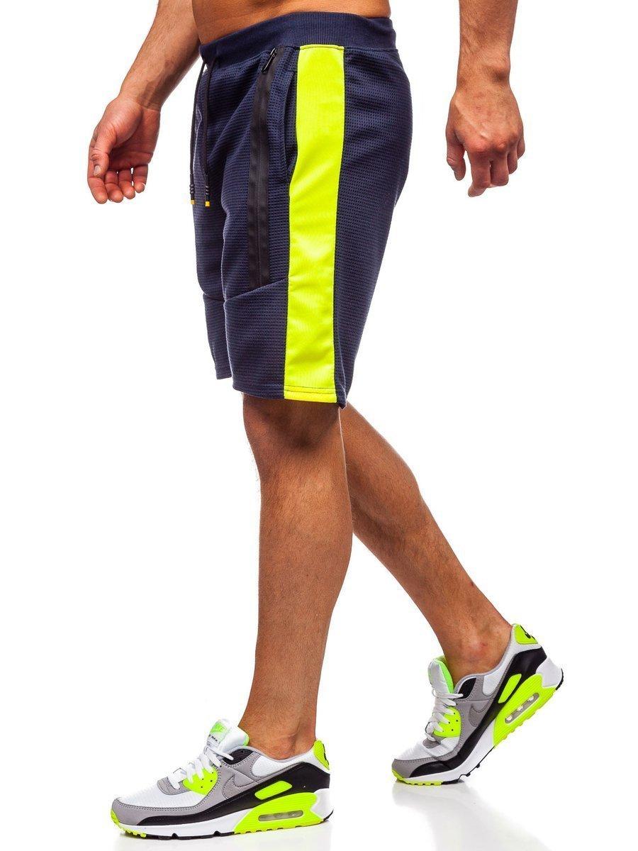 Pantaloni scurți de trening bleumarin bărbați Bolf KS2521 imagine