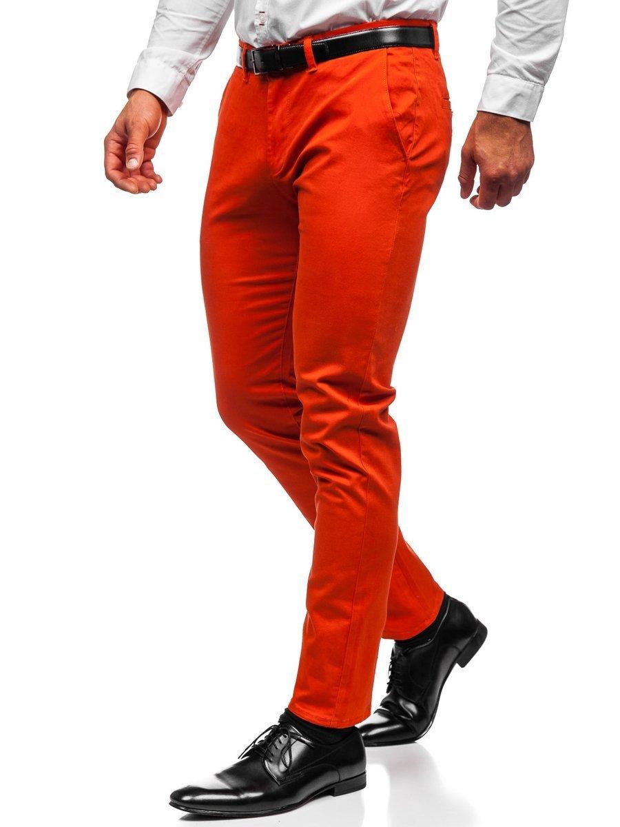 Pantaloni chinos portocaliu bărbati Bolf 1143